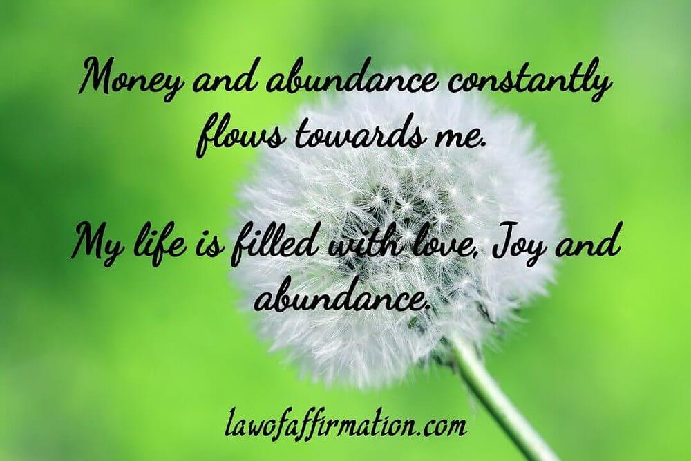 Morning affirmations for abundance