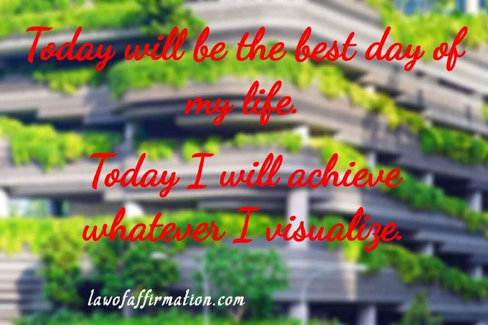 Positive morning affirmations for today